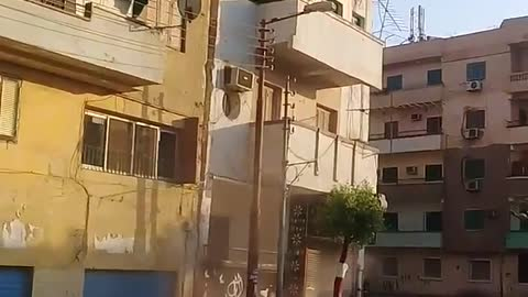 Building fell down in the street destroy completely