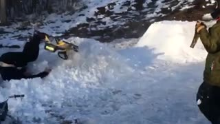 Sledding Backflip Fail