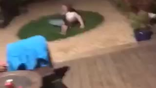 Guy attempts front flip into grass circle fails - Video