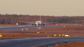 Impressive Crosswind Landing And Golden Takeoff Of Boeing 777 - Video