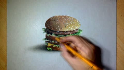 This Drawing Of A Big Mac Is So Realistic You Want To Take A Bite