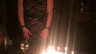 Birthday Girl's Hair Catches On Fire! - Video