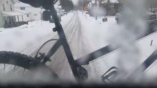 A cold and snowy day driving the city bus toady!!