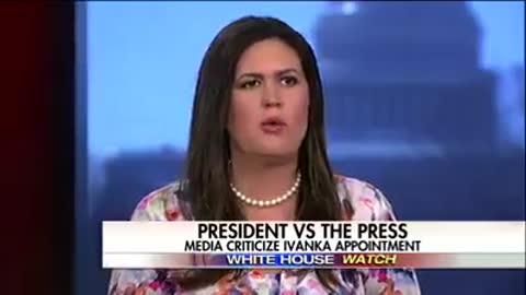 "Sarah Huckabee Sanders: ""The only war on women [is against women] close to this president."""