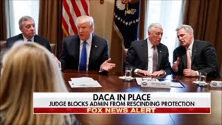 Activist Judge Temporarily Blocks Trump From Changing Obama's DACA program - Video