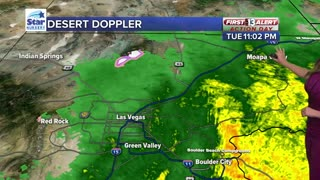 Flash Flood Watch in effect, possible flooding overnight in parts of the Vegas area