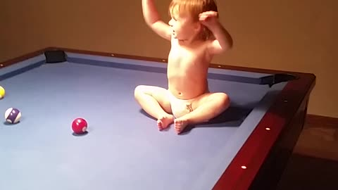 My Baby is already a Pool hustler