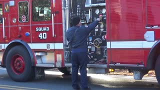 Multiple Fire Agencies Fight a Structure Fire - Video