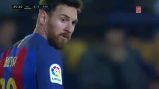 Messi last minute Goal vs Villarreal - Video
