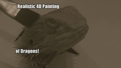 Realistic 4D painting of bearded dragon has surprising twist