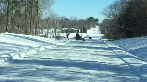 Sledding With a Buggy