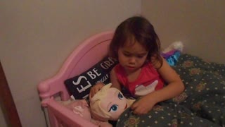 Girl gives up Disney's Frozen Elsa to sleep with her daddy