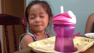 Cute toddler offers to pray, starts speaking in tongues?!  - Video