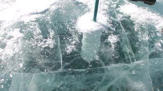 Ice on Baikal Lake - Video