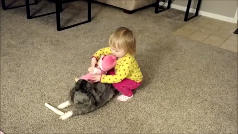 Toddler Makes Puppy Horsey
