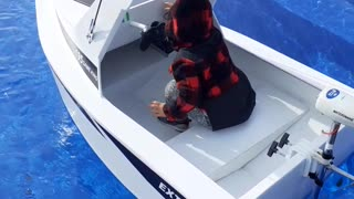 Boy Gets His Own Boat for Third Birthday