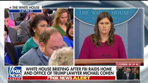 April Ryan Asks If Trump Thought About Stepping Down; Watch Sarah Sanders Response!!