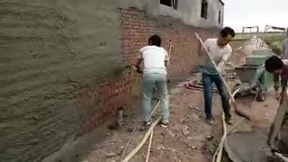 the video of spray plaster machine  - Video