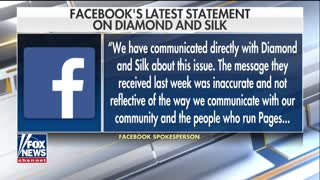 Diamond and Silk slam Facebook for labeling them 'unsafe' for online community- pt.1 - Video