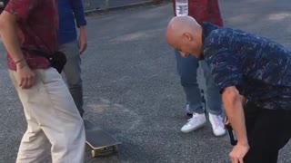 Bald Head Bottle Flip