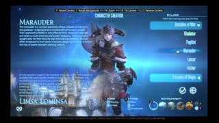 Let's Play Final Fantasy XIV A Realm Reborn!- Making a character - Video