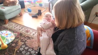 Baby Learns Grandma's Song Almost Instantly, Starts Singing Along - Video