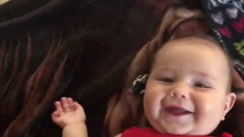 Adorable Baby Laughing While Being Tickled.