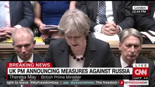 British PM Theresa May Rebukes Kremlin, Expels 23 Russian Diplomats - Video
