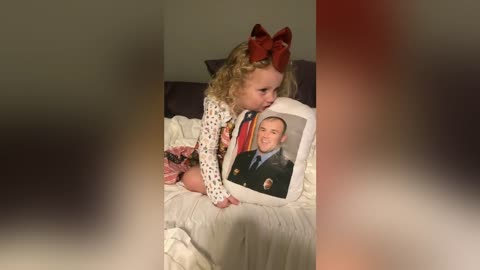 Age 3 Daughter of Fallen Firefighter Sings Him 'Happy Birthday'