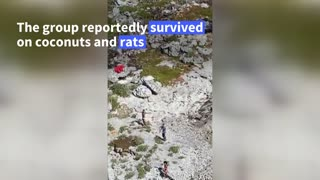 US Coast Guard rescues three people stranded on a desert island in the Bahamas