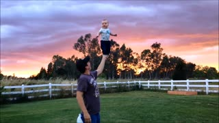 Baby Shows Off Incredible Balancing Skills - Video