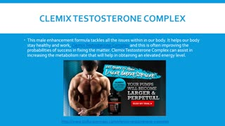 Clemix Testosterone Complex Supplement Where to Buy ? - Video