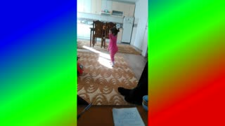 2 years old girl dancing