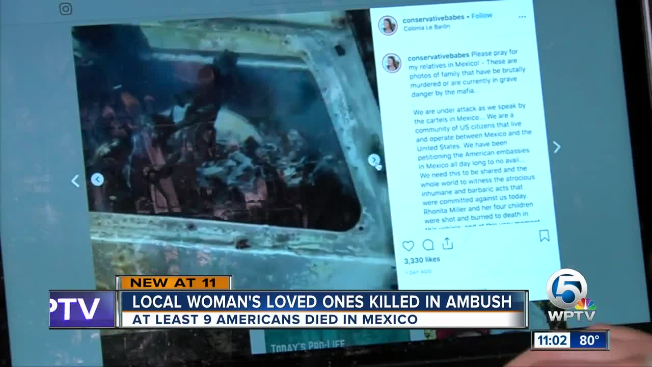 Local woman's loved ones killed in ambush