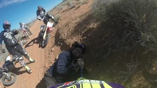 Incredible moment bikers find man missing in the desert for TWO days in viral video - Video