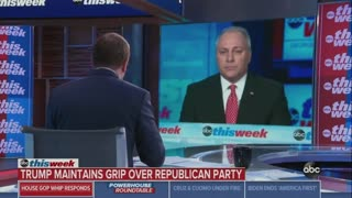 Steve Scalise Refuses To Blame Trump For Capitol Riot When Pressed By Jon Karl