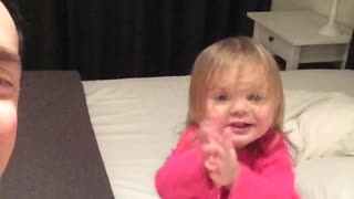 """Baby hilariously learns how to """"booty drop"""""""