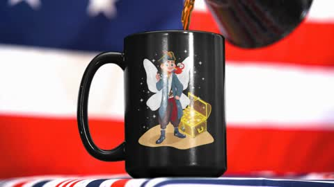 4th of July Themed of Someone Pouring Coffee into A Mug