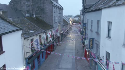 Main Streets Of Galway City Empty