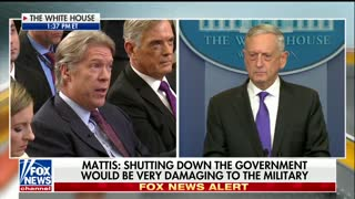 Mattis Press Briefing - Government Shutdown - Video