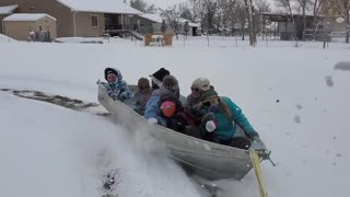 Using a Boat to Make the Most of Snow Days