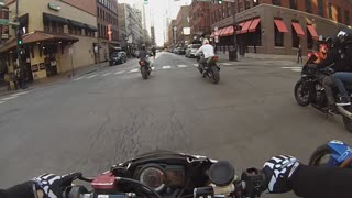 Officer Throws Coffee at a Motorcycle Rider (Additional Angle) - Video
