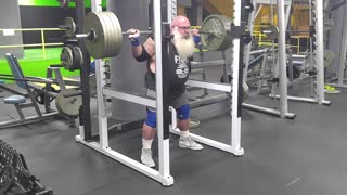 Santa Is Squatting To Reach His Best Christmas Shape