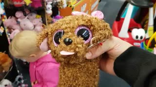 Baby Adorably Reacts to Stuffed Animals at the Toy Store  - Video
