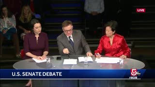 Warren's Debate Opponent Brought Up Her Ethics Charge And She Wasn't Prepared - Video