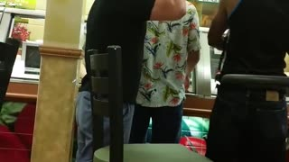 Wild Fight in a Sandwich Shop - Video