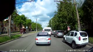 Driver Prevents A Jaywalker From Crossing The Road - Video