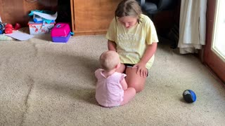 Niece and Baby Have a Cute Argument