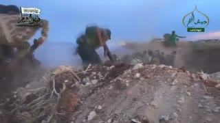 Video shows rebel attack in Syria - Video
