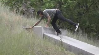 Collab copyright protection - skateboard uphill concrete fall - Video